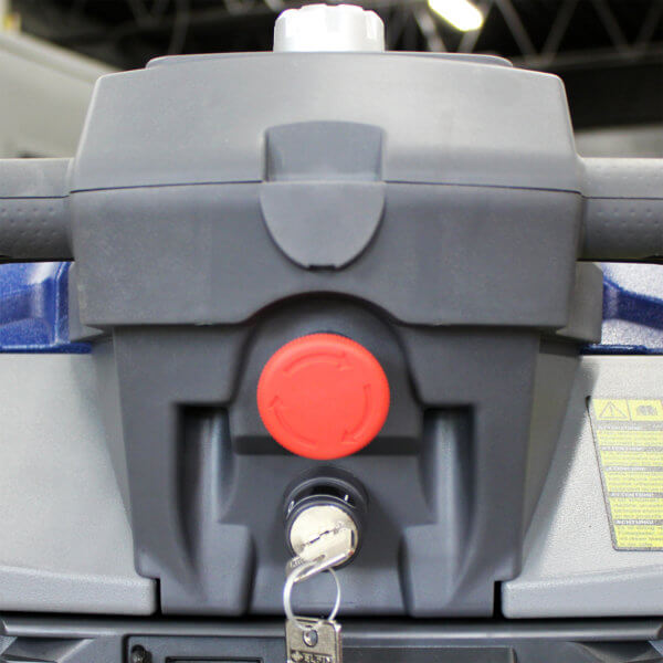 500SS Scrubber Emergency Shut Off Button Safety Feature