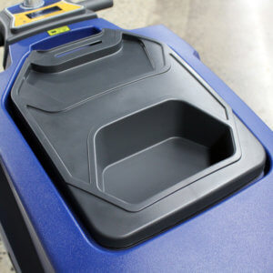 HammerHead Scrubber - Recovery Tank Lid Compartment
