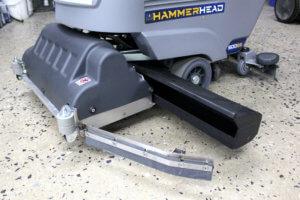 Hammerhead 500SS Scrubber Debris Hopper Open